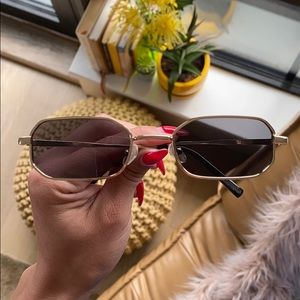 Vintage gold and black tiny sunglasses